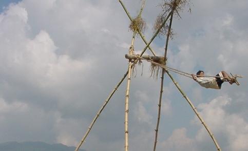 bamboo-swing dashain
