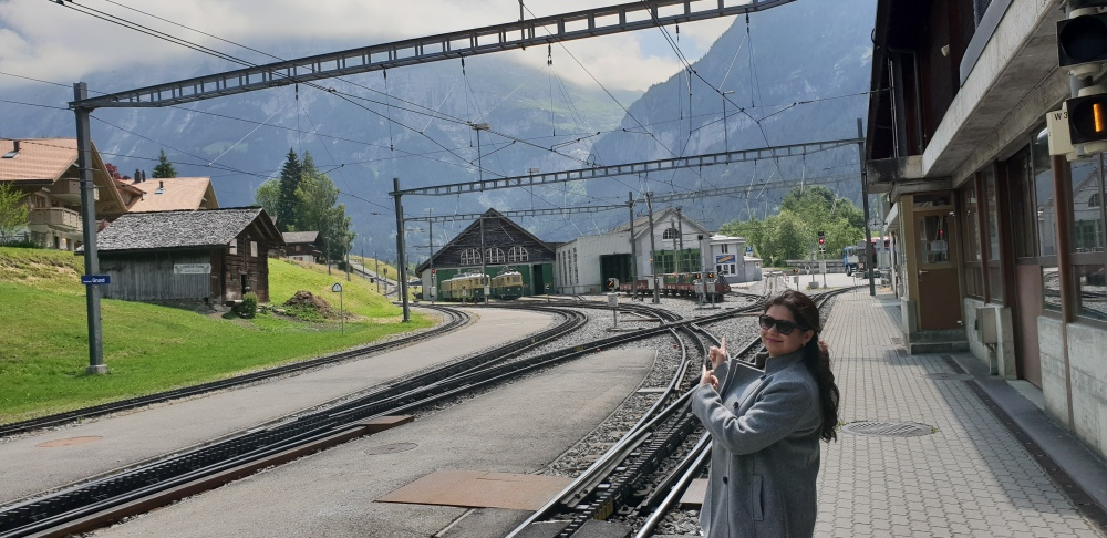 interlaken ost station switzerland