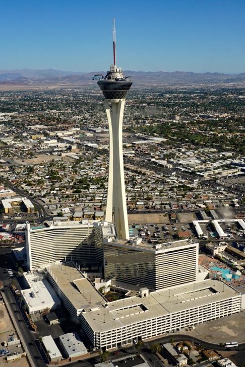 Aerial View of Casino Stratosphere Las Vegas